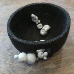 Colombins gres noir porcelaine