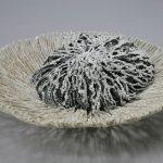 Filaments de porcelaine noire et blanche