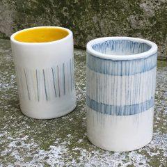 Décors crayon à oxydes sur porcelaine