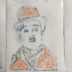 Gravure du rhénalon avec une pointe sèche -pose mélange huile de lin + colorant - Plaque EK040T